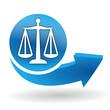 justice sur bouton web bleu