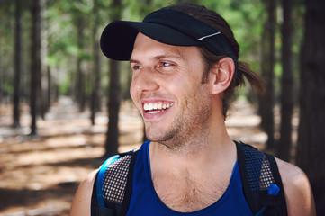 healthy trail runner