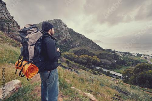 mountain trekking man - 60047402