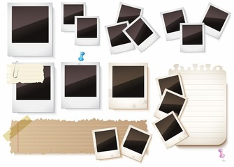 Photo frames isolated over white