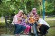 malay family having fun in the park ,malaysian people