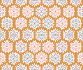 seamless traditional japanese floral fabric background