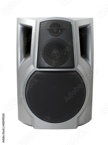 Stereo speaker isolated on white