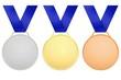 Médailles avec ruban bleu
