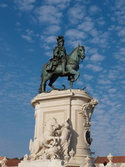 Statue of King Jose I - Praca do Comercio, Lisbon, Portugal