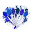 spezie blu in cucchiaio