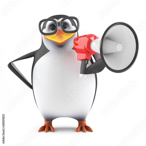Academic penguin is very loud today