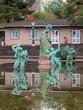 Leinwanddruck Bild - Europe and the Bull Fountain in Millesgarden sculpture garden