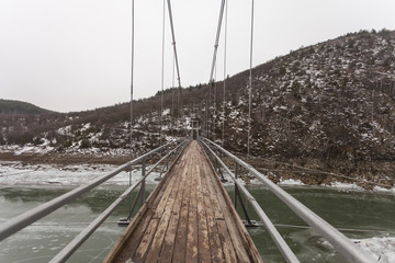 Bridge over the frozen river