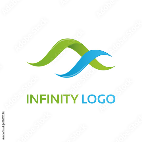 Green-blue infinity logo template