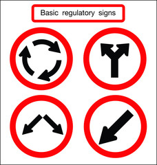 basic traffic sign circle