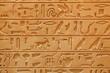 Leinwandbild Motiv An old Egyptian pictorial writing on a sandstone