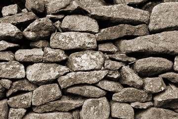 A detail from a old Irish stone wall