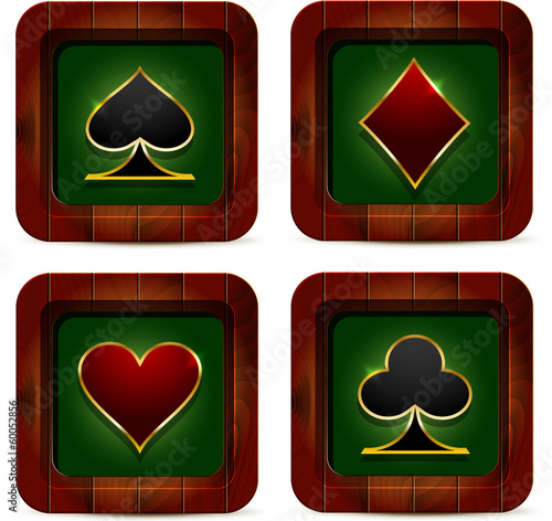 Casino wood icon