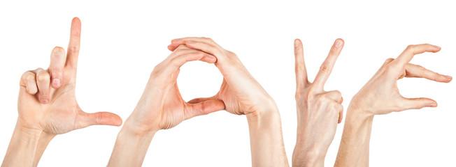 Love Buchstaben Hände