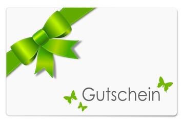 Geschenk Gutschein grün