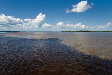 Meeting of Waters in the Amazon in Brazil