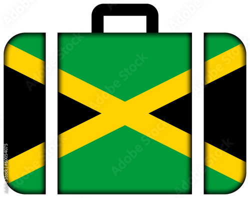 Suitcase with Jamaica Flag