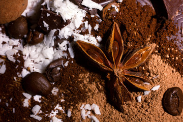 chocolate and spices mix