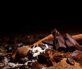 chocolate mix with spices