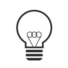 Black lightbulb icon