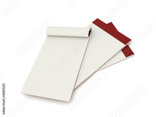 Blank note books rendered isolated