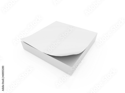 Note paper isolated on white