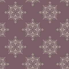 Seamless hand drawn traditional indian rangoli pattern