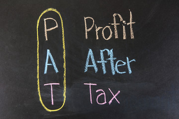 Chalk drawing - PAT: Profit,After,Tax
