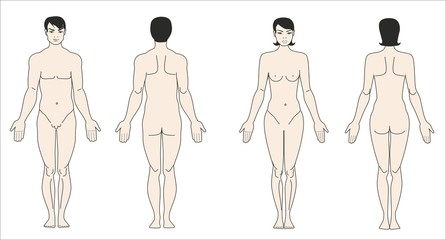Фигуры мужчины и женщины