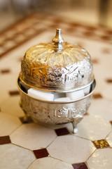 Morocco metal sugar bowl