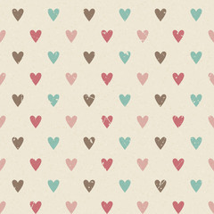 Valentine retro seamless hearts pattern