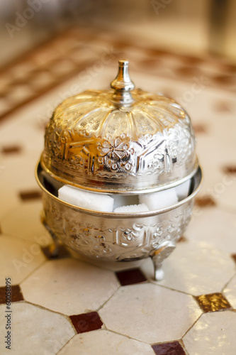 Morocco metal sugar bowl