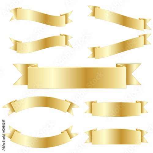 RETRO VECTOR RIBBONS (button icon gold banner)