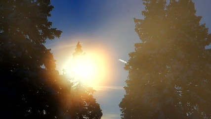 Foggy sun - time lapse.