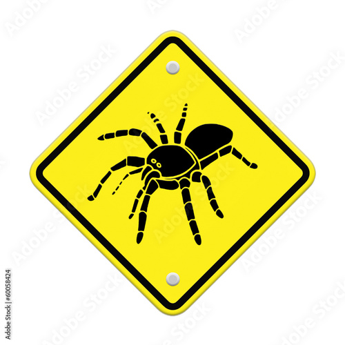 Spider Caution Sign