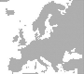 Europa - Serie: Pixelkarte Europa