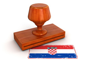 Rubber Stamp Croatian flag (clipping path included)