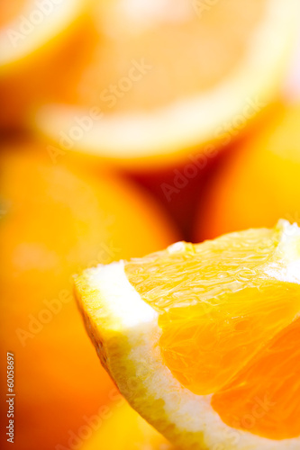 Oranges closeup. Macro. Soft focus © Tim UR