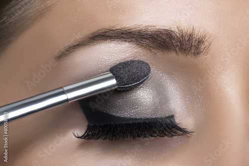 Makeup. Make-up. Eyeshadows. Eye shadow brush