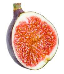 Figs half on white background