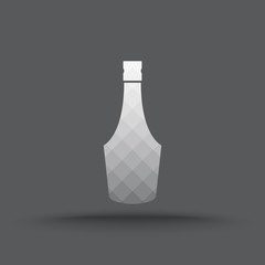 Vector of transparent alcohol bottle icon on isolated background