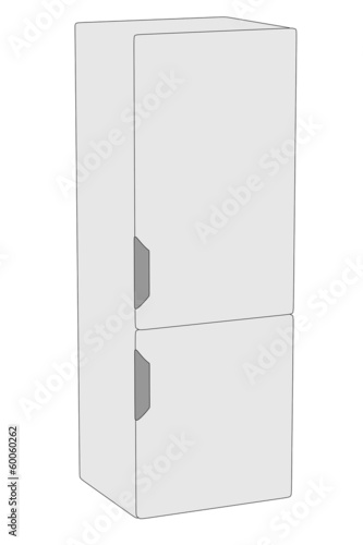 cartoon image of fridge machine