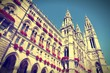 Vienna city hall. Cross processed color.