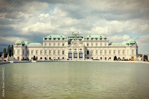 Belvedere, Vienna. Cross processed color.