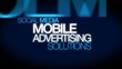 Mobile advertising word tag cloud animation
