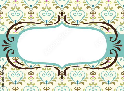 Ornate Damask Banner