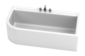 realistic 3d render of bath tub