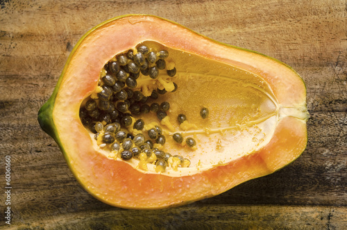 Half Ripe Papaya
