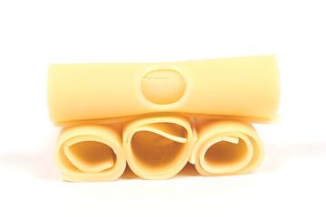 Vier Scheiben Schweizer Käse